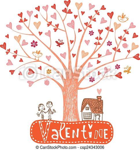 Valentine tree - csp24343006