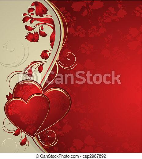 Valentines background - csp2987892
