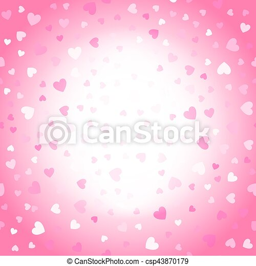 Valentines background, pink and white hearts - csp43870179