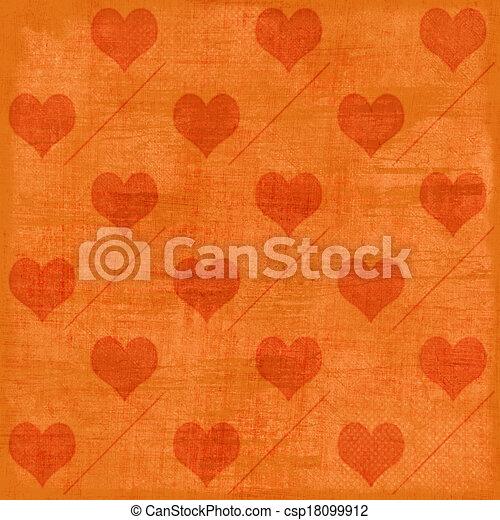 Valentine's background with hearts - csp18099912