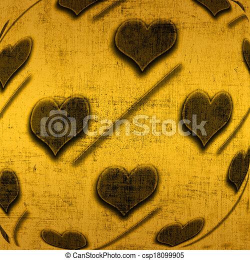 Valentine's background with hearts - csp18099905