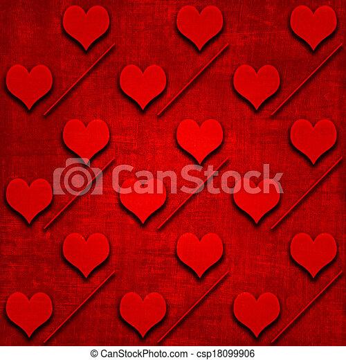 Valentine's background with hearts - csp18099906