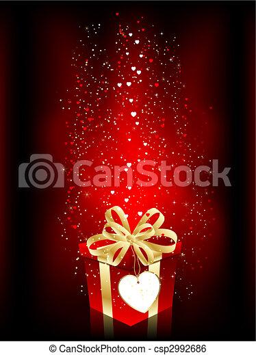 valentines, cadeau - csp2992686