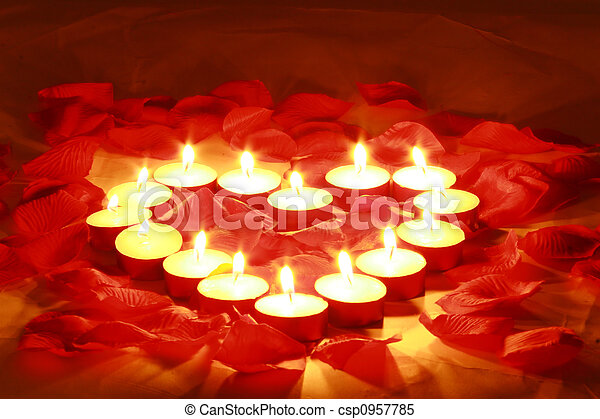 valentines candles - csp0957785