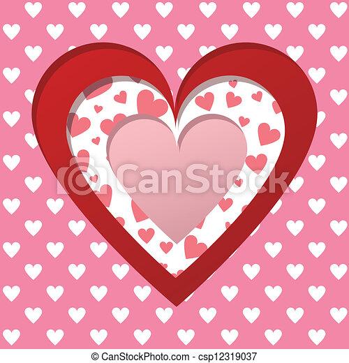 Valentines card - csp12319037