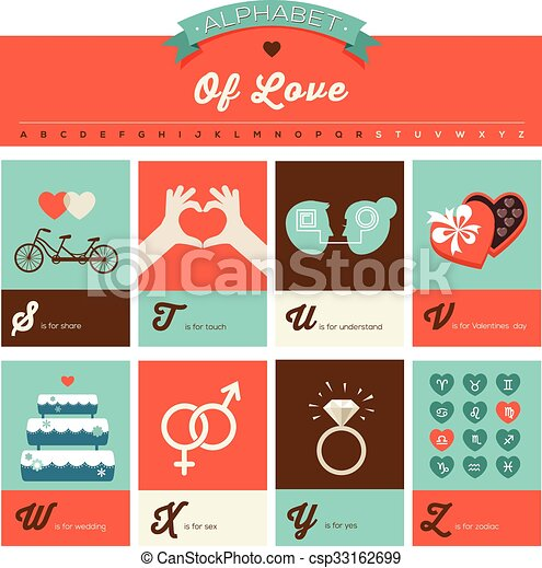 Valentines Day ABC Alphabet Poster