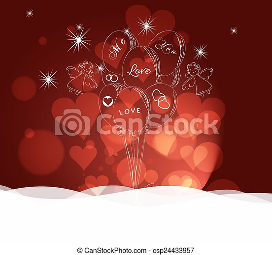 valentines day abstract background - csp24433957
