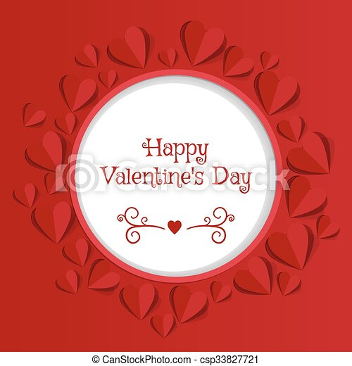 Valentine's day abstract background - csp33827721
