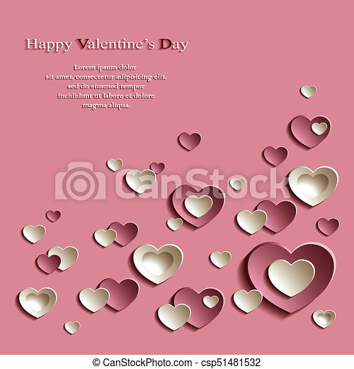 Valentine\'s day background. Vector background for... vectors ...