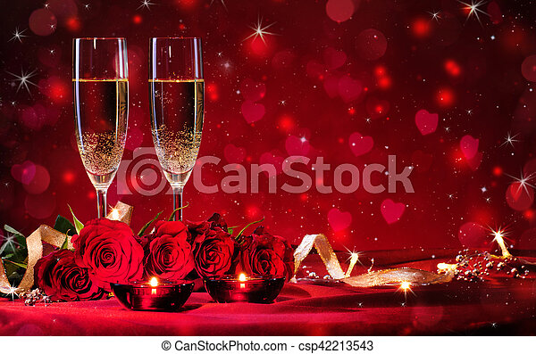 Valentines day background - csp42213543