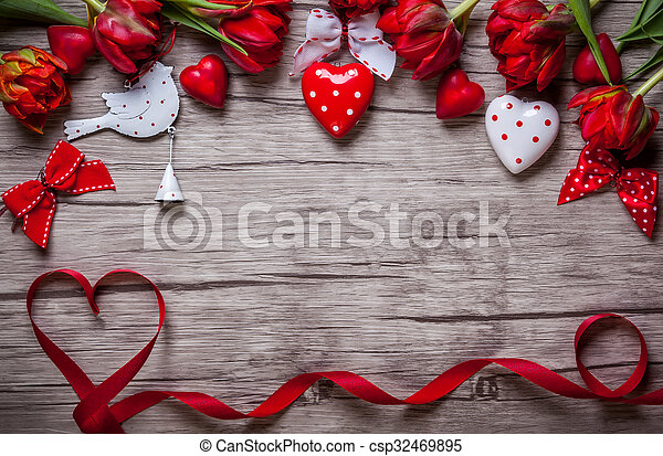 Valentines Day background - csp32469895