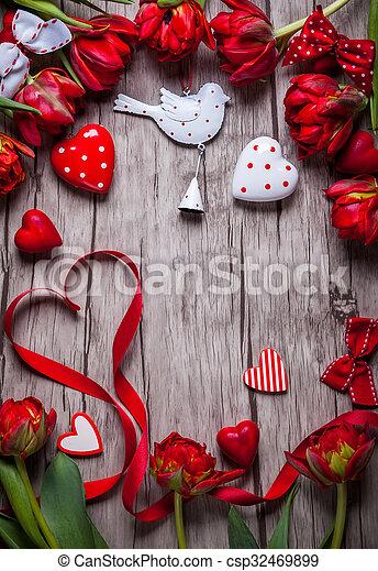 Valentines Day background - csp32469899