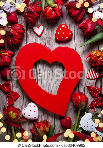 Valentines Day background  - csp32469902