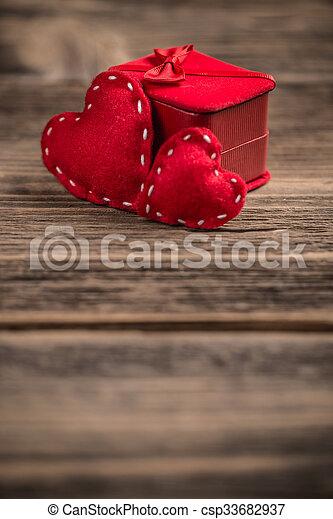 Valentines day background - csp33682937