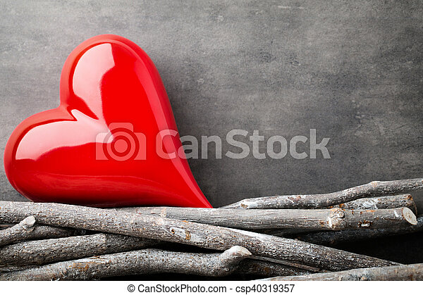 Valentines Day background with hearts. - csp40319357