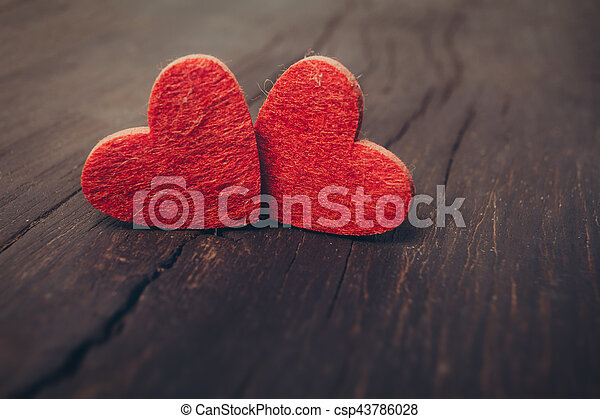 Valentines Day background with hearts - csp43786028