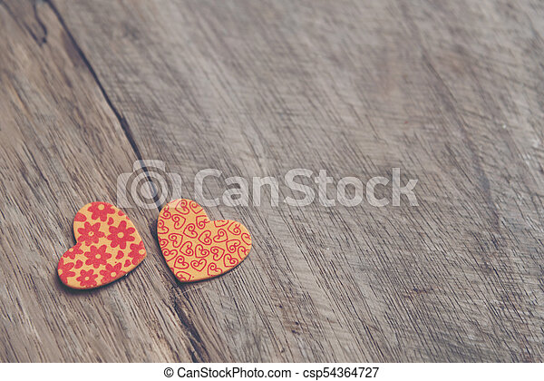 Valentines Day background with hearts. - csp54364727