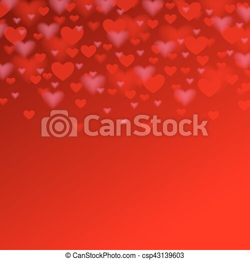 valentines day background with red heart for your holiday design - csp43139603