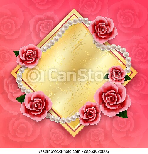 Valentines Day Background With Roses And Pearls Wallpaperflyer