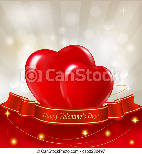 Valentine`s day background with two - csp8232497
