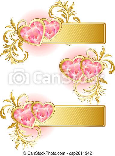valentine's day banner - csp2611342