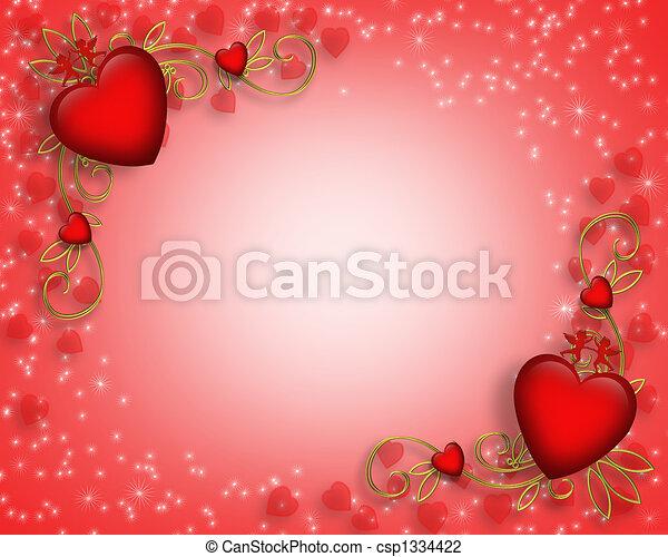 Valentines Day border - csp1334422