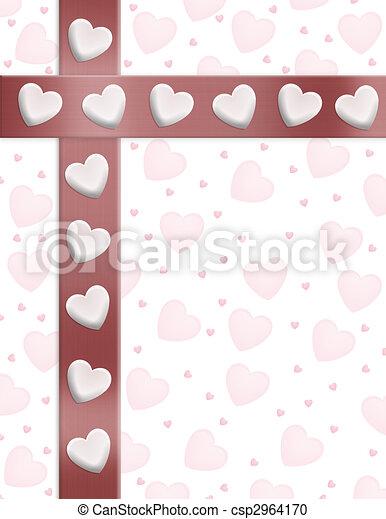 Valentines Day Border Hearts - csp2964170