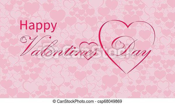 Valentines Day calligraphy design, vector text - csp68049869