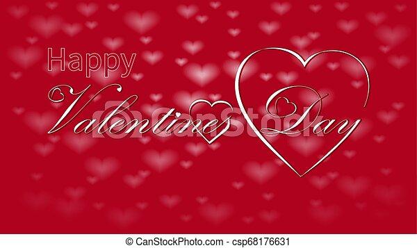 Valentines Day calligraphy design, vector text - csp68176631