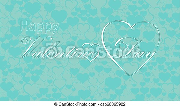 Valentines Day calligraphy design, vector text - csp68065922