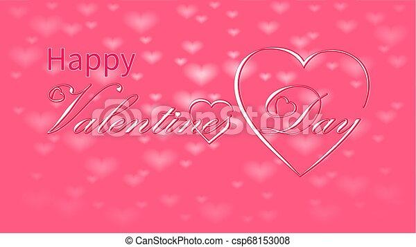 Valentines Day calligraphy design, vector text - csp68153008