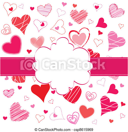 Valentines Day card - csp8615969