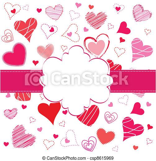 Valentines Day card - csp8615969