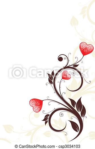 Valentine\'s Day card - csp3034103