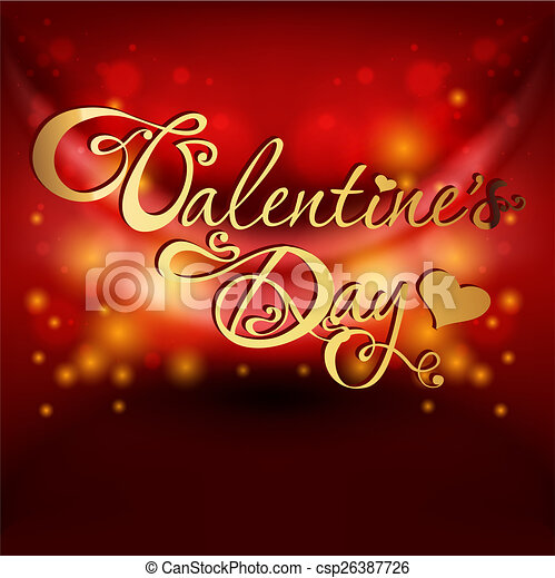 valentine's day card on red background - csp26387726