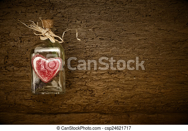 Valentines Day Card Rustic Background