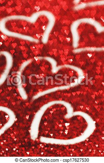 Valentines day card - csp17627530