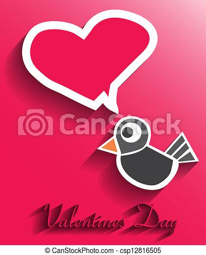 Valentines day card - csp12816505