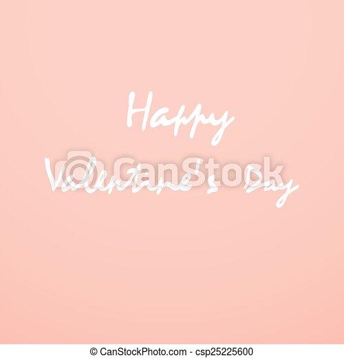 Valentines day card - csp25225600