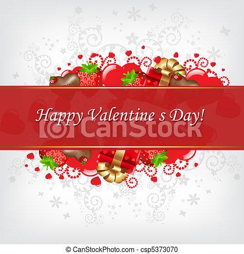 Valentines Day Card - csp5373070
