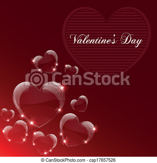 Valentine's day celebrate card - csp17657526