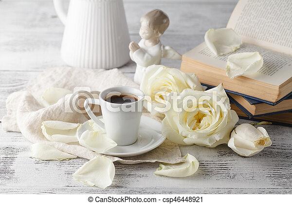 Valentine's day coffee - csp46448921