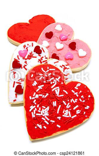Valentines Day cookies - csp24121861