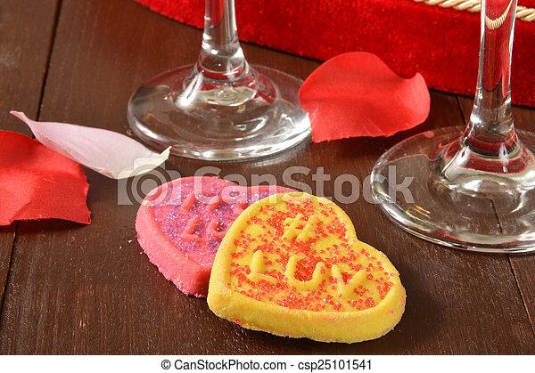 Valentines Day Cookies - csp25101541