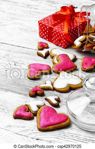 Valentine's day cookies - csp42970125