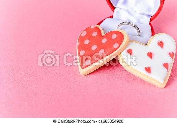 Valentine's day cookies. - csp65054928