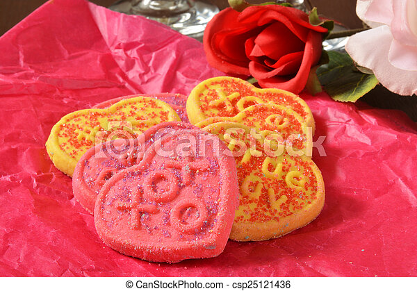 Valentines Day cookies - csp25121436