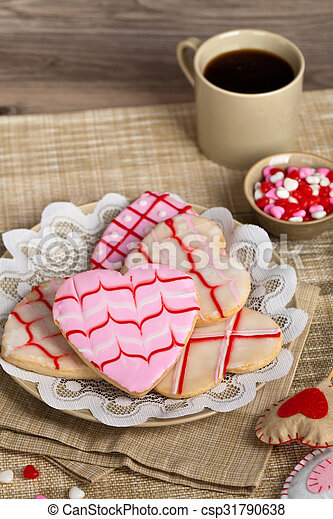 Valentines Day cookies - csp31790638