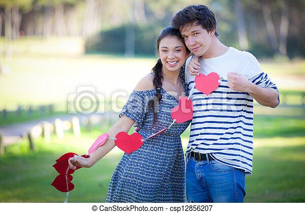 valentines day couple - csp12856207