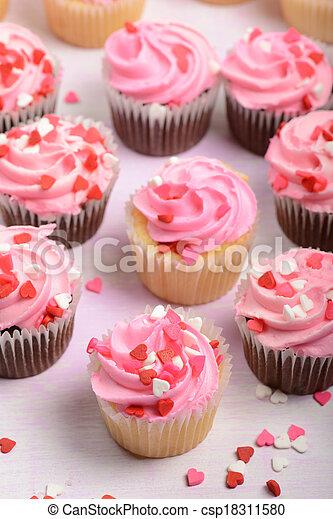 Valentines Day Cupcakes - csp18311580